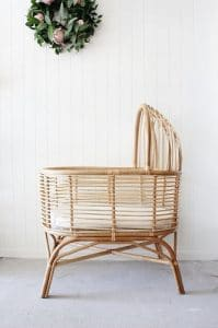 Bali Rattan Bassinet, Crib, Baskets